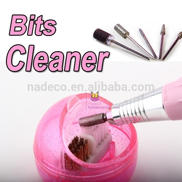 Plastic Nail Art Cleaning Brush Drill Bits Cleaner