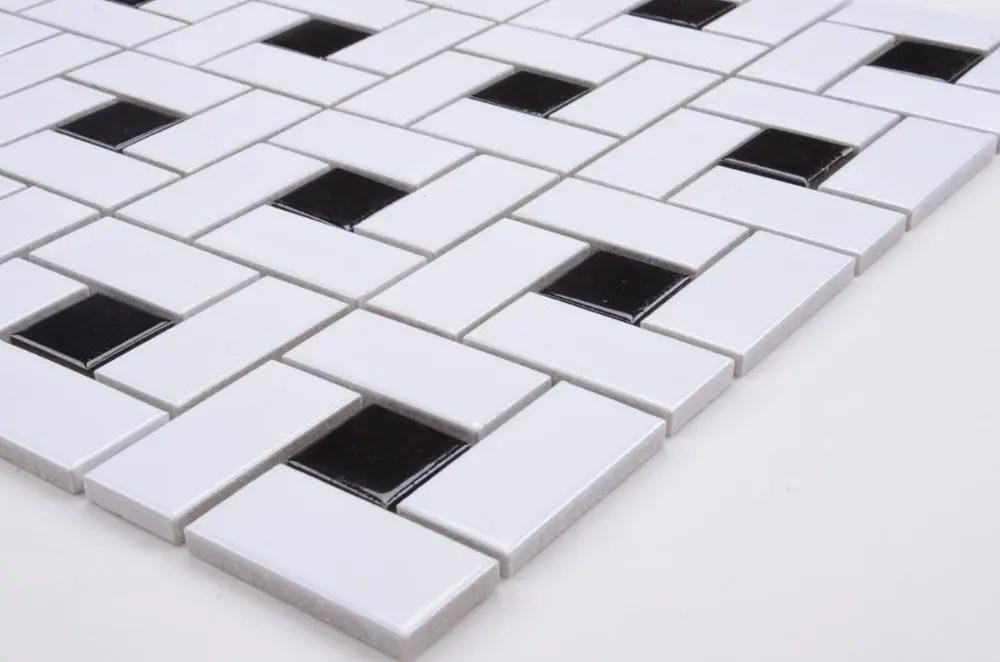 floor mosaic bathroom basket weave ceramic tile inlays black and white pattern buy floor mosaic tile mosaic black and white pattern mosaic bathroom