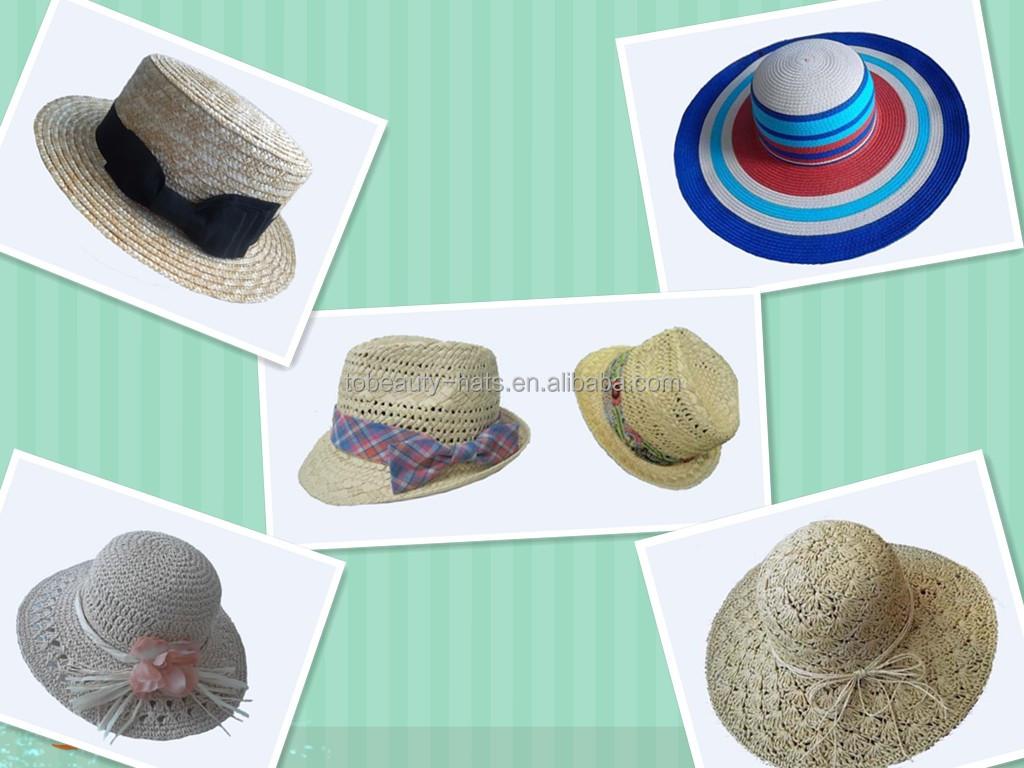 New Fashion Summer Style Brim Straw Hats Lady Beach
