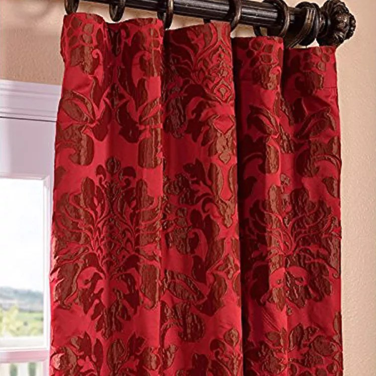wholesale new design decorative shaoxing textile blackout double rod modern red butterfly curtain buy red butterfly curtain modern curtains double