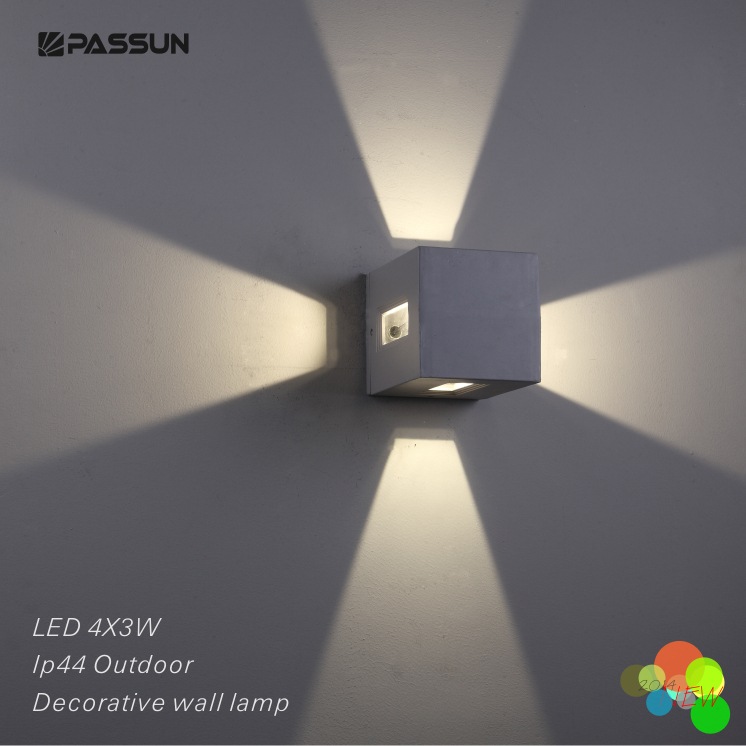Surface Mounted Decorative Outdoor Led Wall Light 4*3w ... on Wall Mounted Decorative Lights id=90689