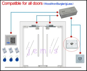 5 Wires Electronic Lock For Refrigerator  Electric Bolt Lock  Fail Safe Electric Bolt Lock Jm