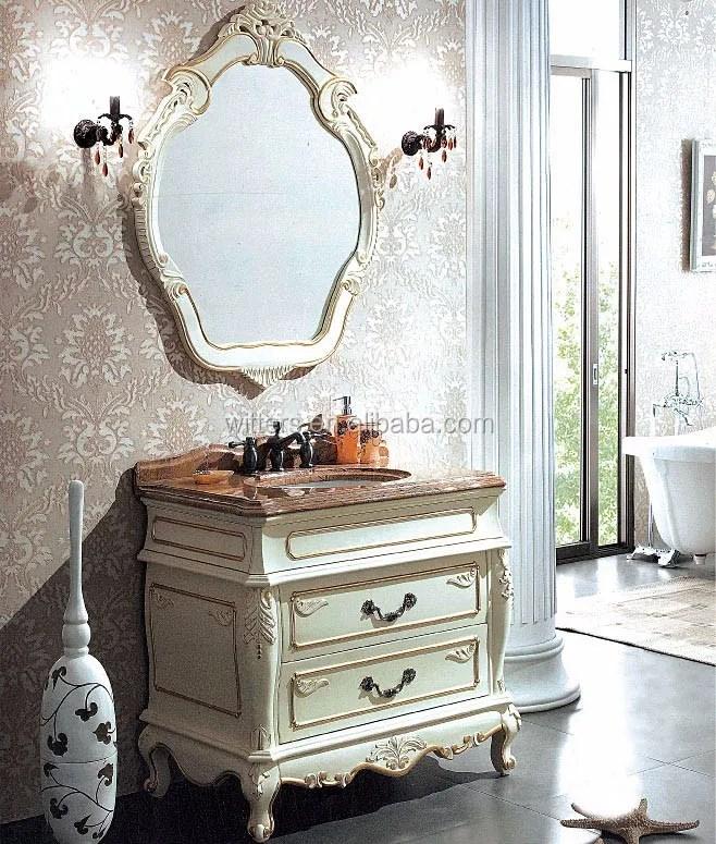 lavabo de salle de bains en creme etroite shabby chic meubles de salle de bains classiques francais avec marbre wts329 buy meuble sous vasque de