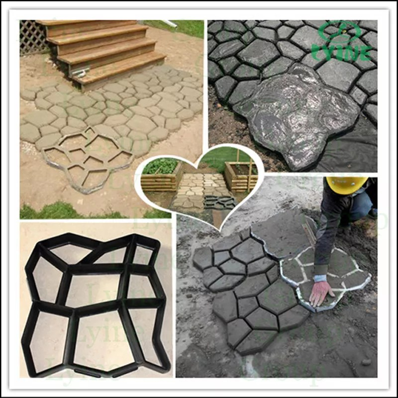 lyine plastic concrete stepping stone molding patio stamping paving walkway molds diy garden tools paver mold for garden path buy paving walkway