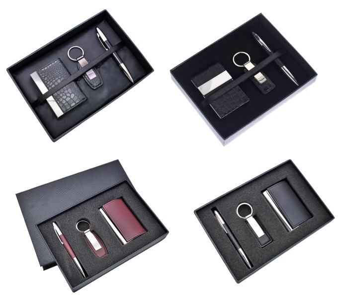 Unique Business Ideas Giveaways Pu Leather Card Holder Key