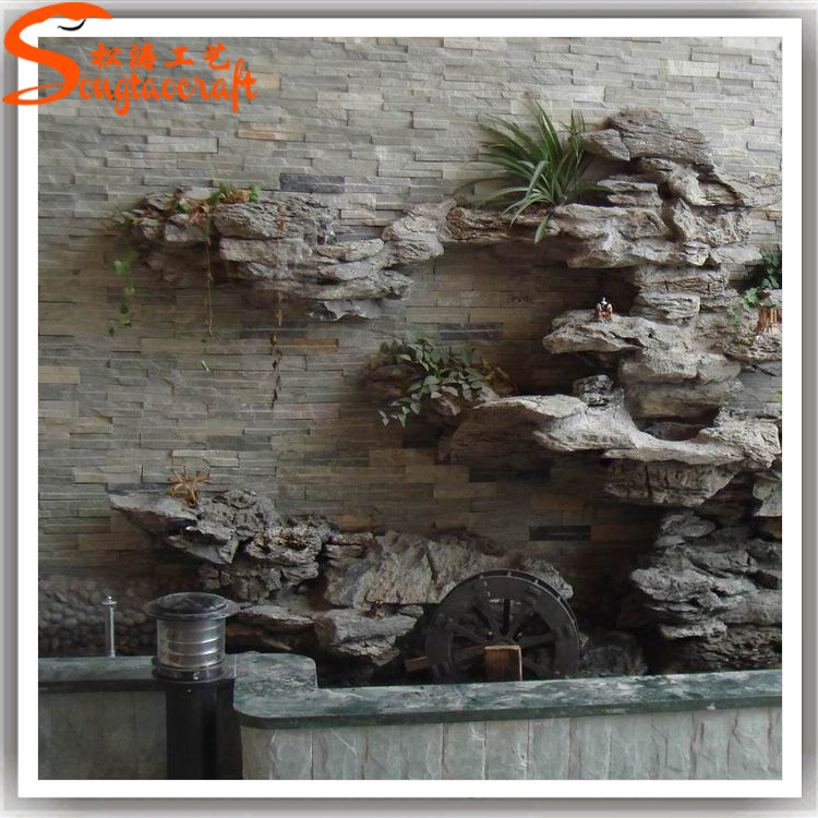 Wedding Party Decoration Resin Water Fountains Fake Stone