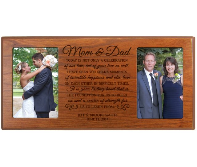 Personalized Parent Wedding Gift Parent Thank You Giftcustom Made Wedding Picture Frame Gift