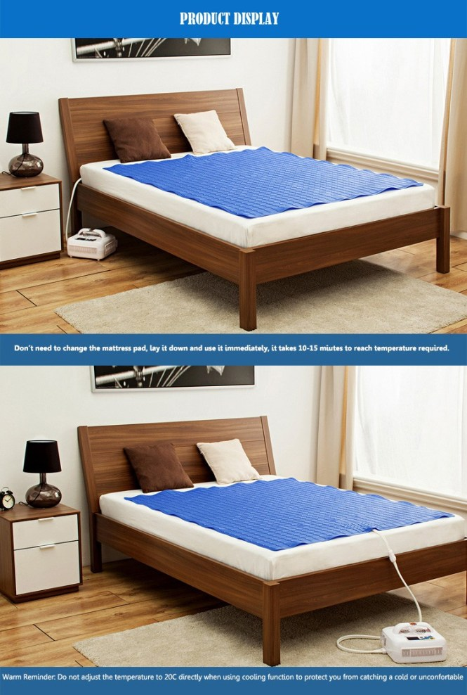 Cool And Heat Mattress Air Conditioner With Smart Temperature Adjule