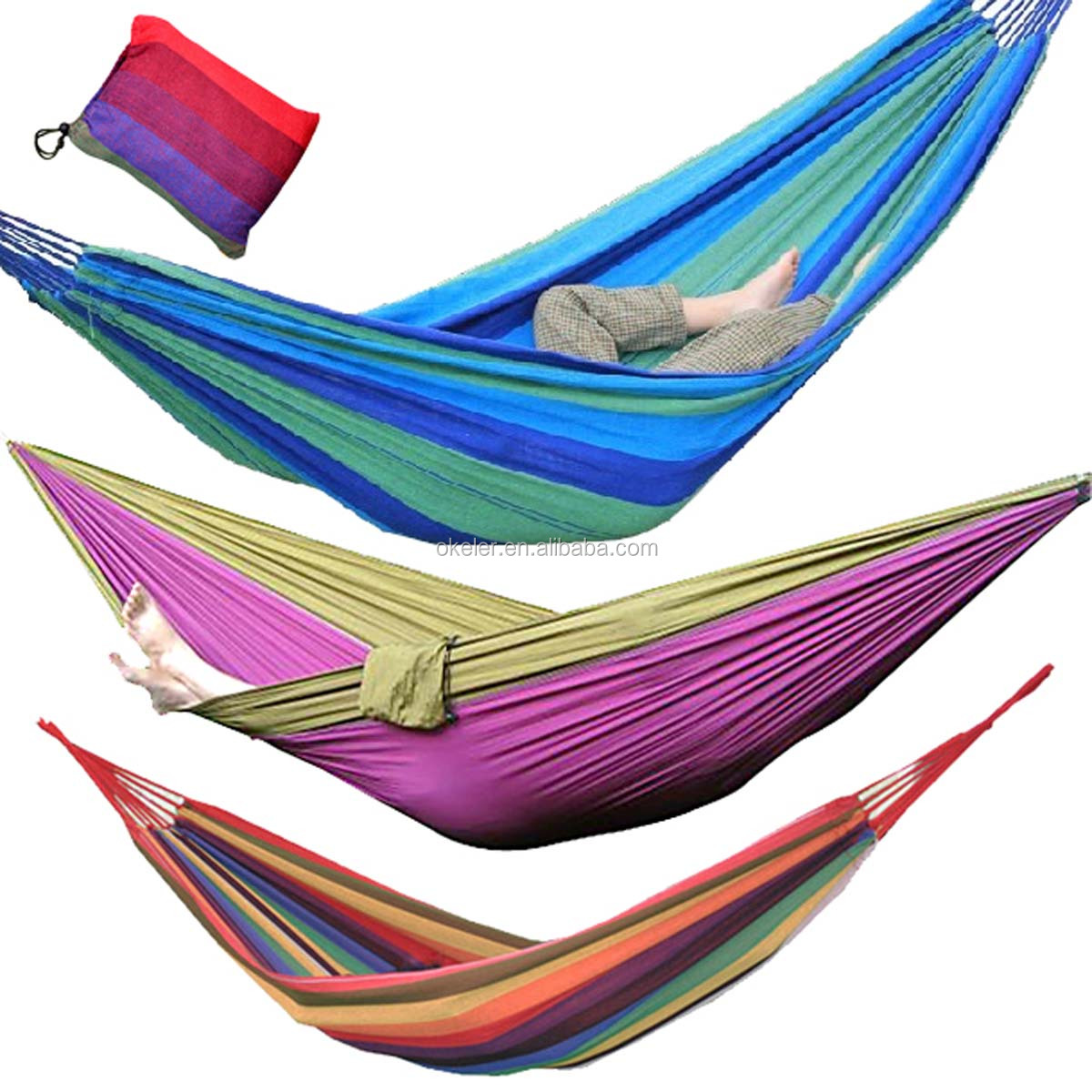 Best Sale 1 Person Portable Hammocks Bed Parachute Nylon