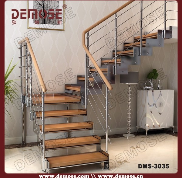 Indoor Metal Oak Treads Stairs Buy L Shape Stairs Open Riser | Hardwood Steps For Stairs | Modern White Oak Stair | Cover | Iron Baluster | Unfinished | Staircase