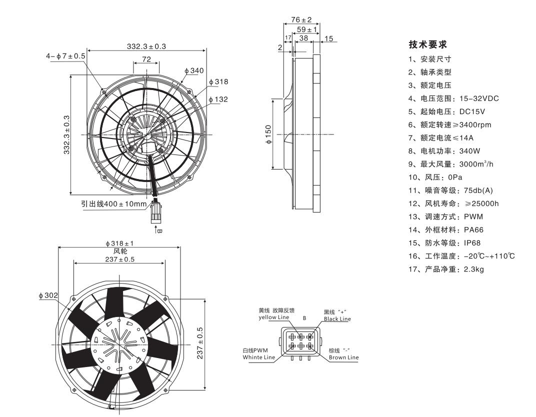 Linrui B B 06 High Quality Auto Aircon Blower Fan