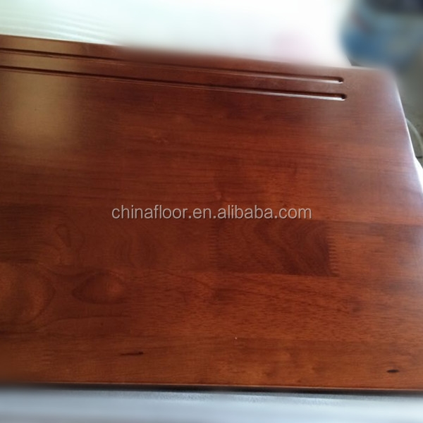 Foshan Factory High Quality Cherry Hardwood Stair Treads Covers   Brazilian Cherry Stair Treads   Box   Walnut   Mahogany   Stained   Finished