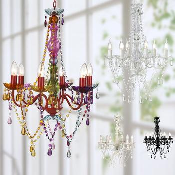 Plastic Candelabra Chandelier Lightings Gypsy Colored Pendant Light Indoor Home Ceiling Lights Ns 120043