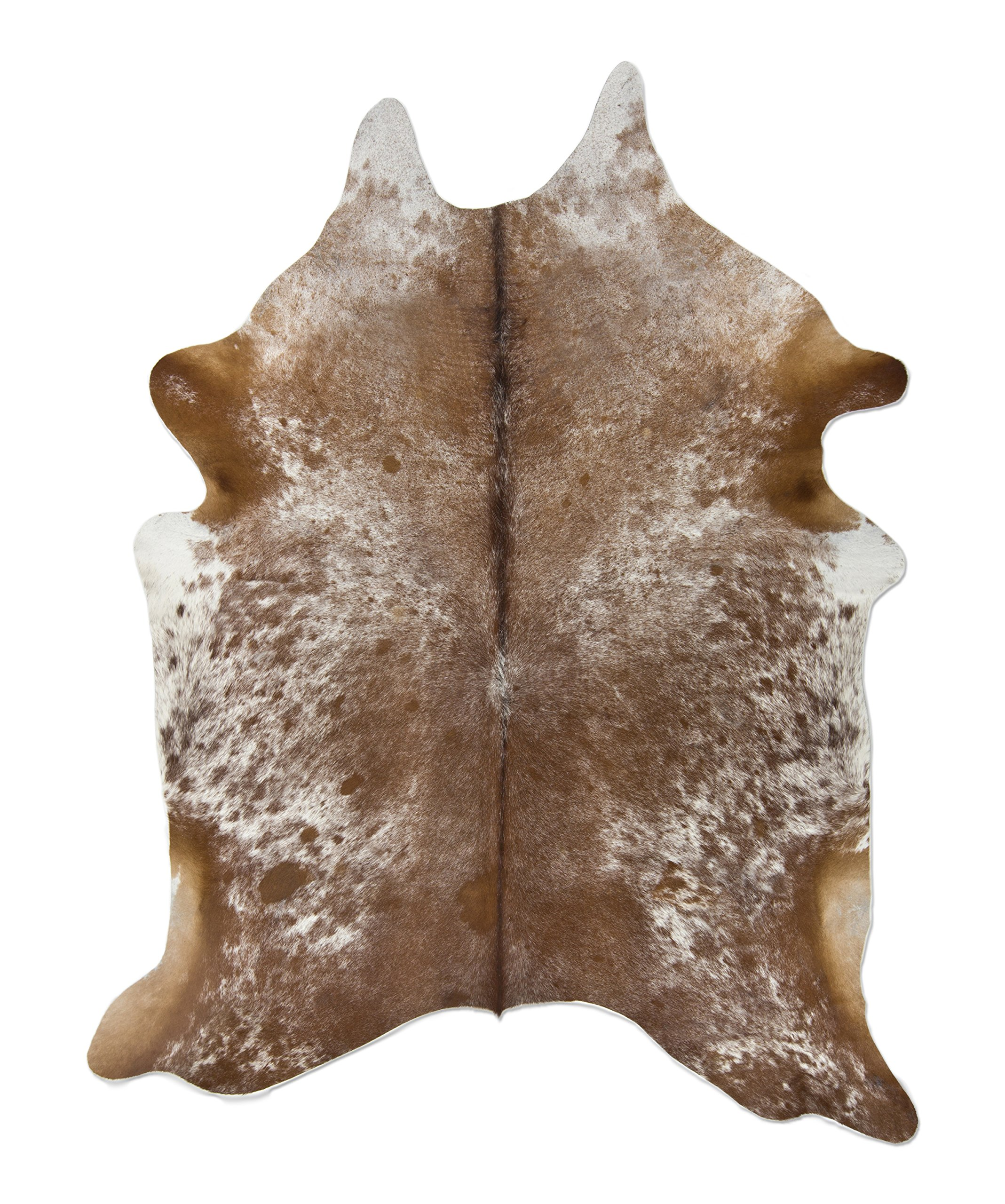 Brown And White 6ft X 7ft Brown And White Cowhide Rug