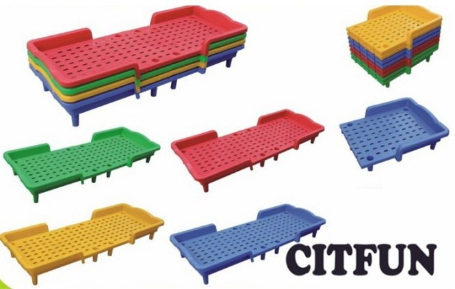 Kindergarten Furniture Kids Folding Plastic Bed Cit 8b0129 Bunk Beds Product On Alibaba