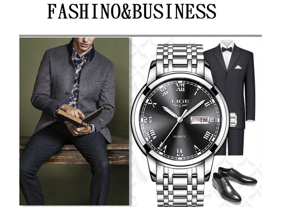 HTB1W3qQf0bJ8KJjy1zjq6yqapXa4 LIGE Watch Men Fashion Sports Quartz Full Steel Gold Business Mens Watches Top Brand Luxury Waterproof Watch Relogio Masculino