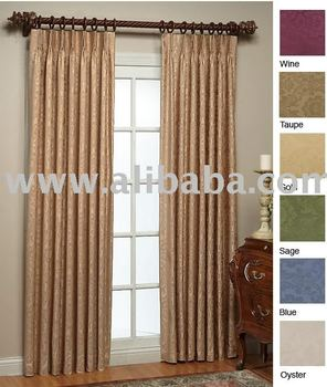 Wellington 84 L X 120 W Damask Pinch Pleat Pleated Panel Pair Availability In Stock Buy