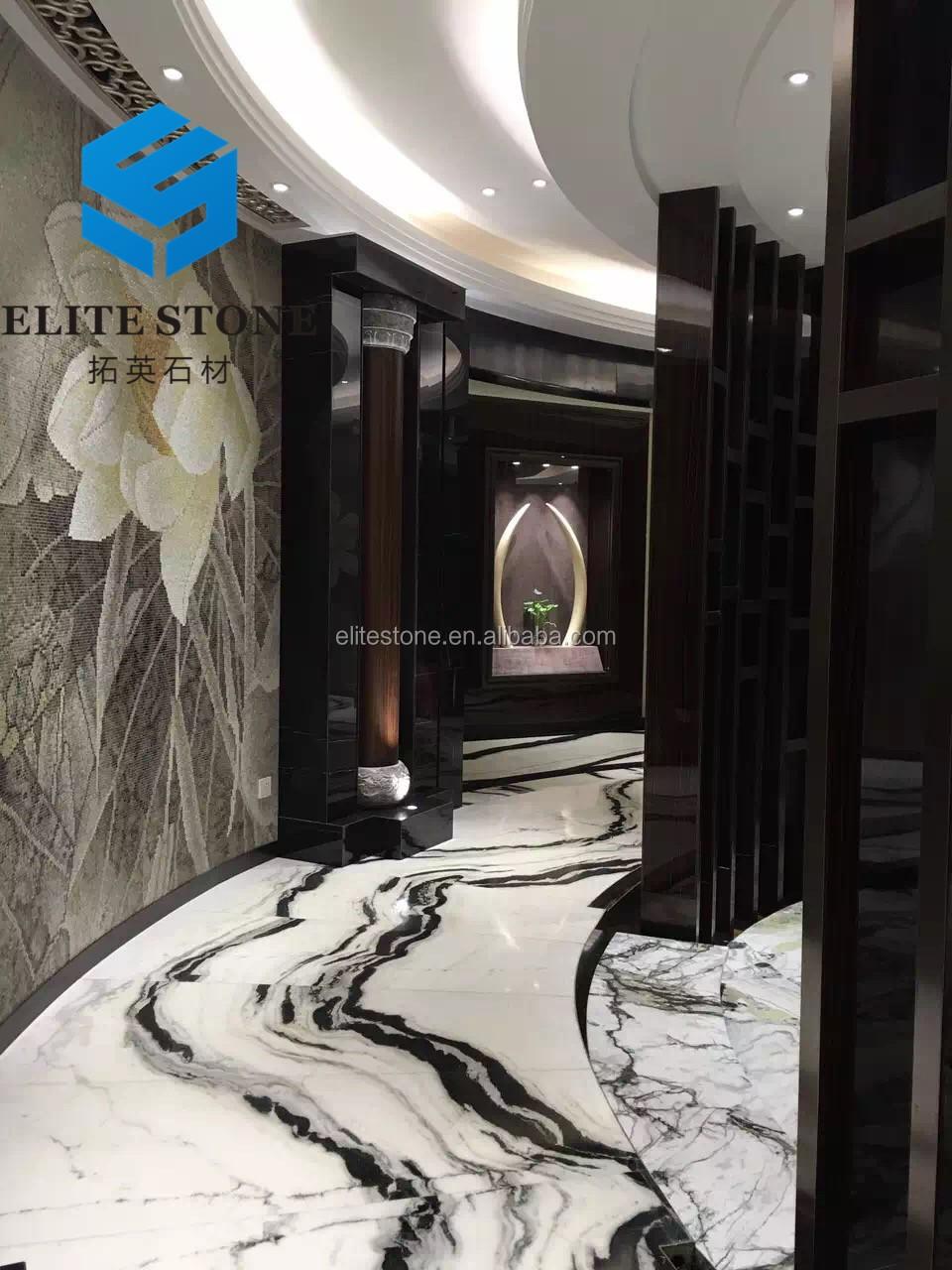 China Panda White Marble Price For Flooring Tiles And Wall Tiles DesignPanda White Marble With