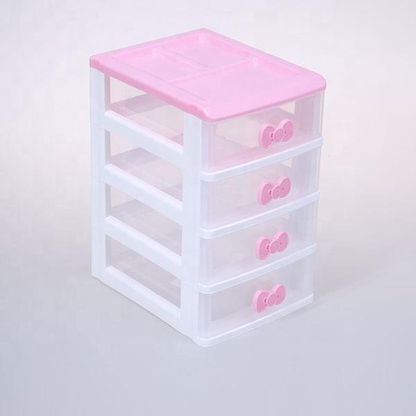 armoire de rangement pour outils de bureau en plastique pour enfants filles 4 tiroirs 1 piece buy boite a tiroir de papeterie boite a outils en
