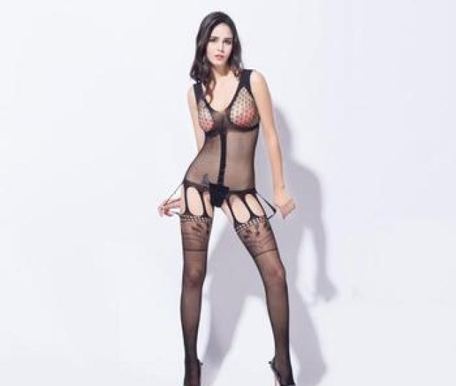 Sexy Black Transparent Lingerie Girls Models With Free Sample