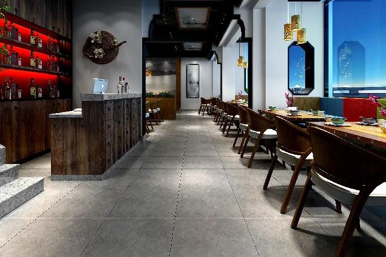 matt dark grey glazed porcelain floor tile 600 600 anti skid restaurant bar flooring rustic ceramic tiles buy matt dark grey tile 600 x 600mm