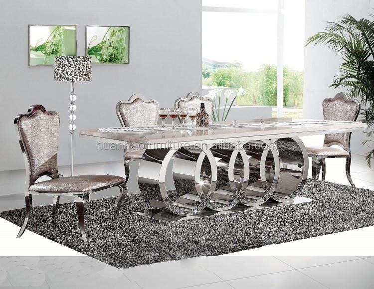 table a manger pour 10 personnes rectangulaire en acier inoxydable avec motif de marbre nouvelle collection 2019 buy table a manger 10