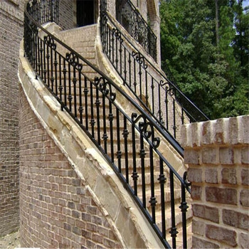 Factory Export Handrail Indoor Decorative Stair Steel Railing | Wrought Iron Railings Lowes | Stair Balusters | Lowes Cost | Deck Railing | Baluster | Stairs
