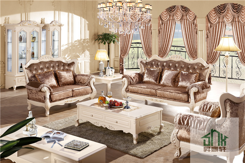 Luxury Classic European Sofa Set Hb 605 Living Room Furniture