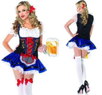 Sexy Women Costume Halloween R Dress Girl Cosplay Dutch Ac5766