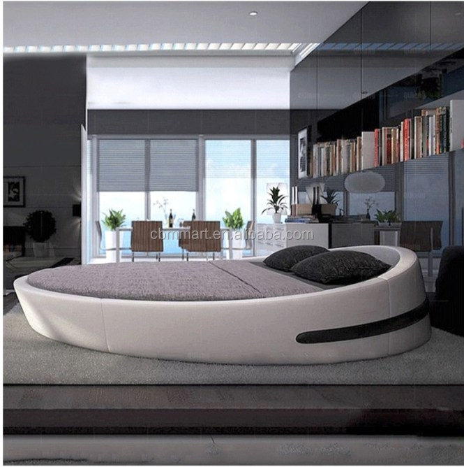 Chinese Latest Double Bed Design King Size Round