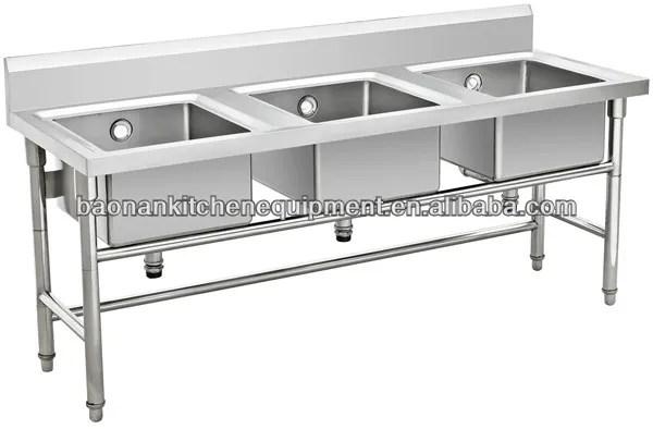warewashing equipment stainless steel 3 compartment sinks bn s06 view warewashing 3 compartment sinks cosbao product details from foshan nanhai