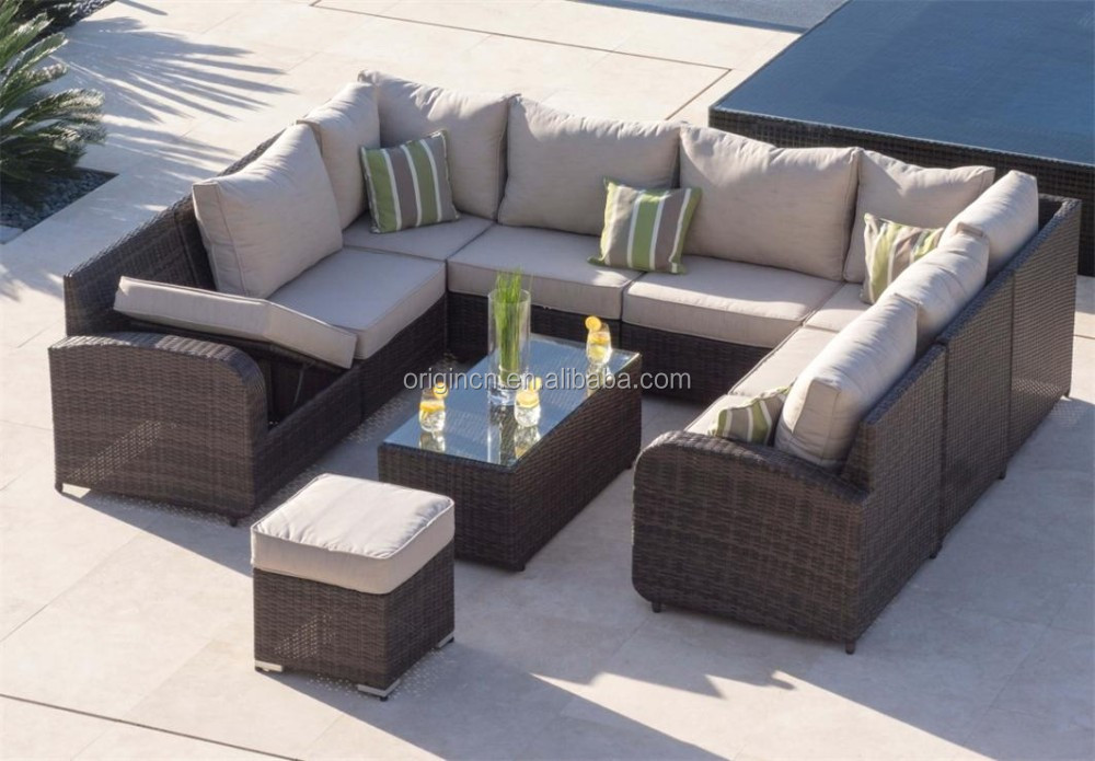 8 seater u shape home outdoor dining and chatting sofa set wicker garden furniture pattaya thailand buy garden furniture pattaya thailand u shape