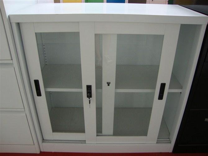 Morden Glass Silding Door Kitchen Cabinet With Roller