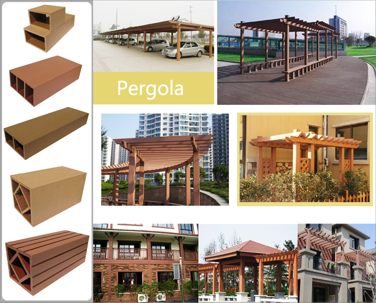 Promotional Sale Composite Wooden Canopy Outdoor Synthetic