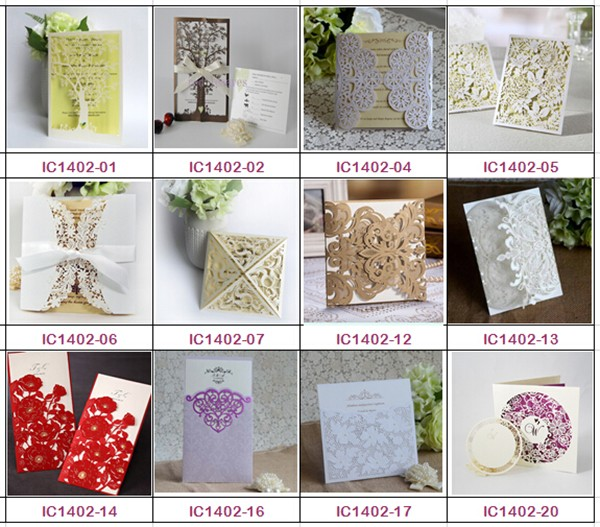 Event And Party Supplies Embossed Pebble Wedding Invitations With Ribbon