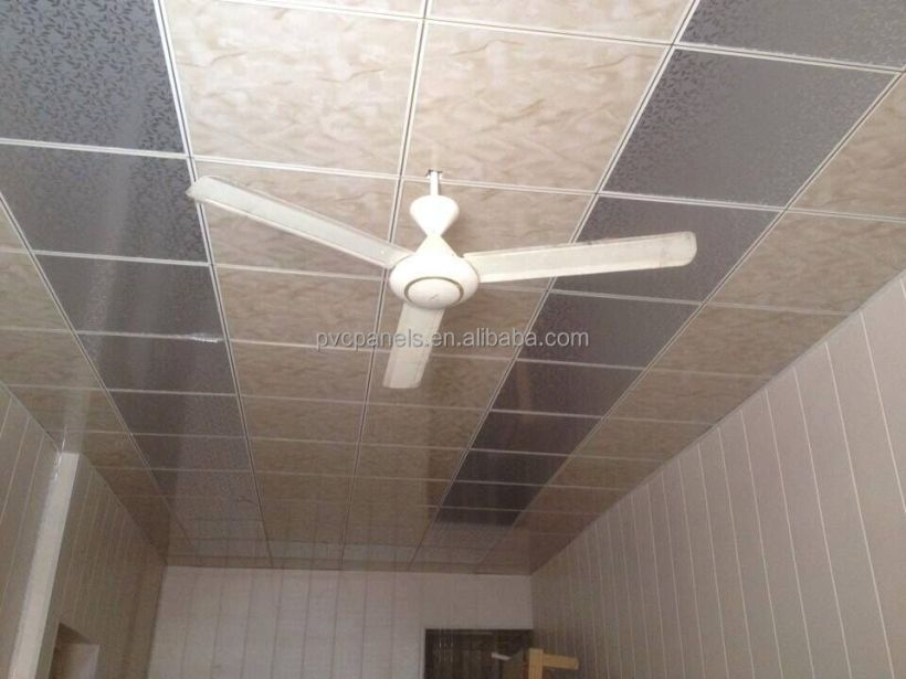 60x60 Easy Cleaning Pvc Drop Ceiling Tiles House Design Waterproof Bathroom Wall Panels China Manufature