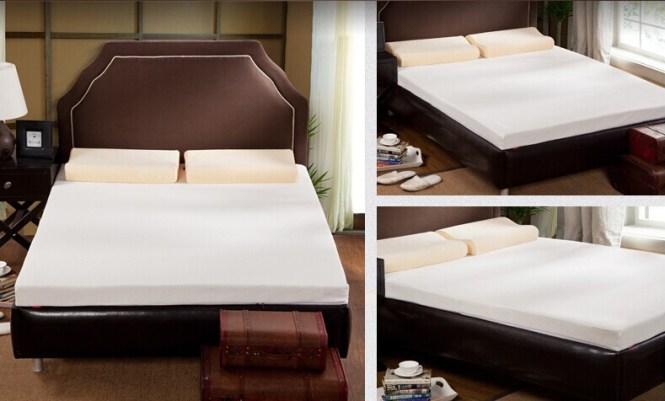 Sleep Well Memory Foam Thin Mattress Pad Best Beds
