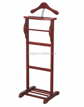 modern hotel room solid wood suit valet stand