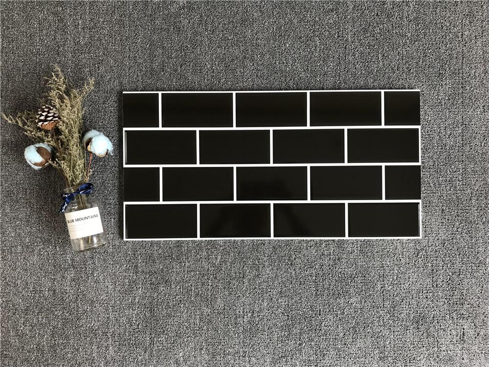 Carrelage Mural En Ceramique Noir Avec Ligne I 300x600 X Mm Personnalise Buy Carrelage Mural Interieur Carreaux De Ceramique Carreaux De Forme I Product On Alibaba Com