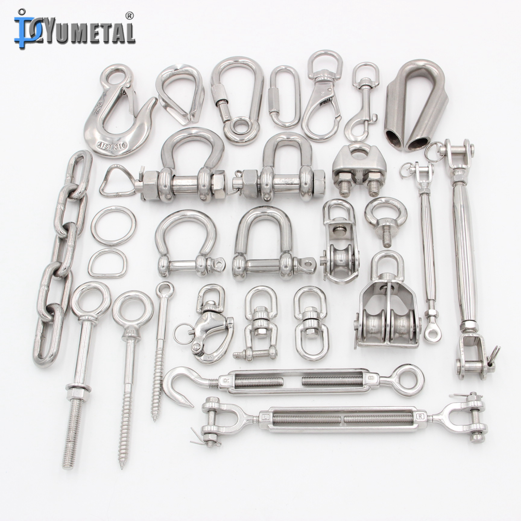 Qingdao Yumetal Carbon Steel Rigging Hardware Products