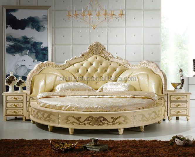 European Design Antique Bedroom Round Bed King Size Product On Alibaba