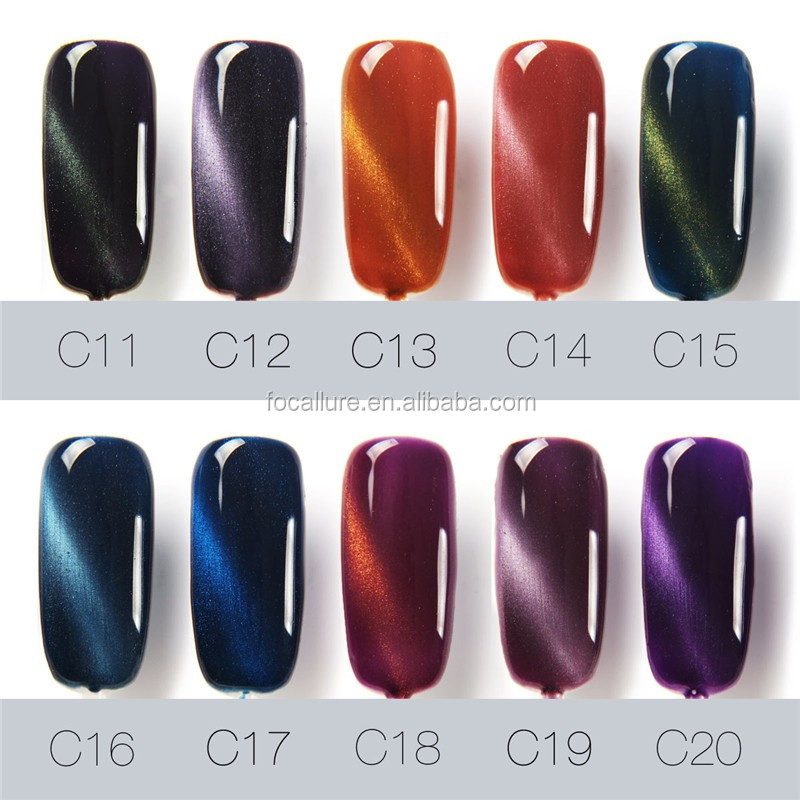 Nail Art Designs Pictures Metallic Led Uv Polish 12ml Cat Eye Mag Gel