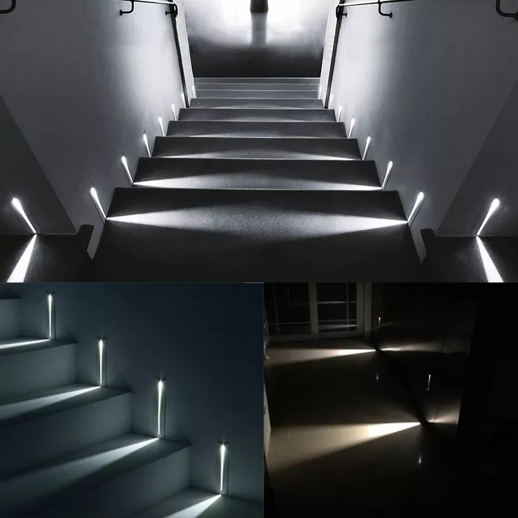 modern recessed led stair light rectangle ac100 240v indoor led wall sconce lighting stairs step stairway hallway staircase lamp buy led step