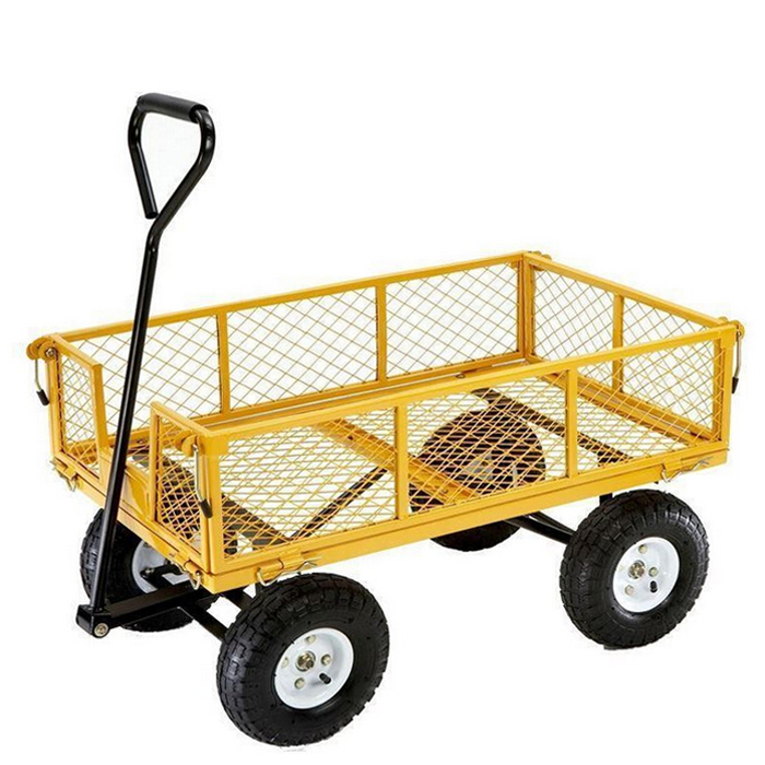 chariot pliable en acier chariot de jardin en maille robuste pour l exportation buy chariot robuste chariot a outils de chariot chariot de jardin