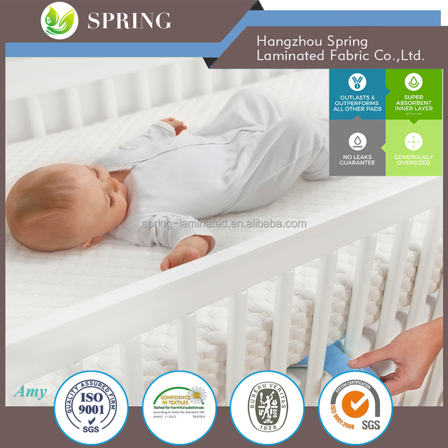 Organic Cotton Baby Crib Mattress Cover And Pad Liner