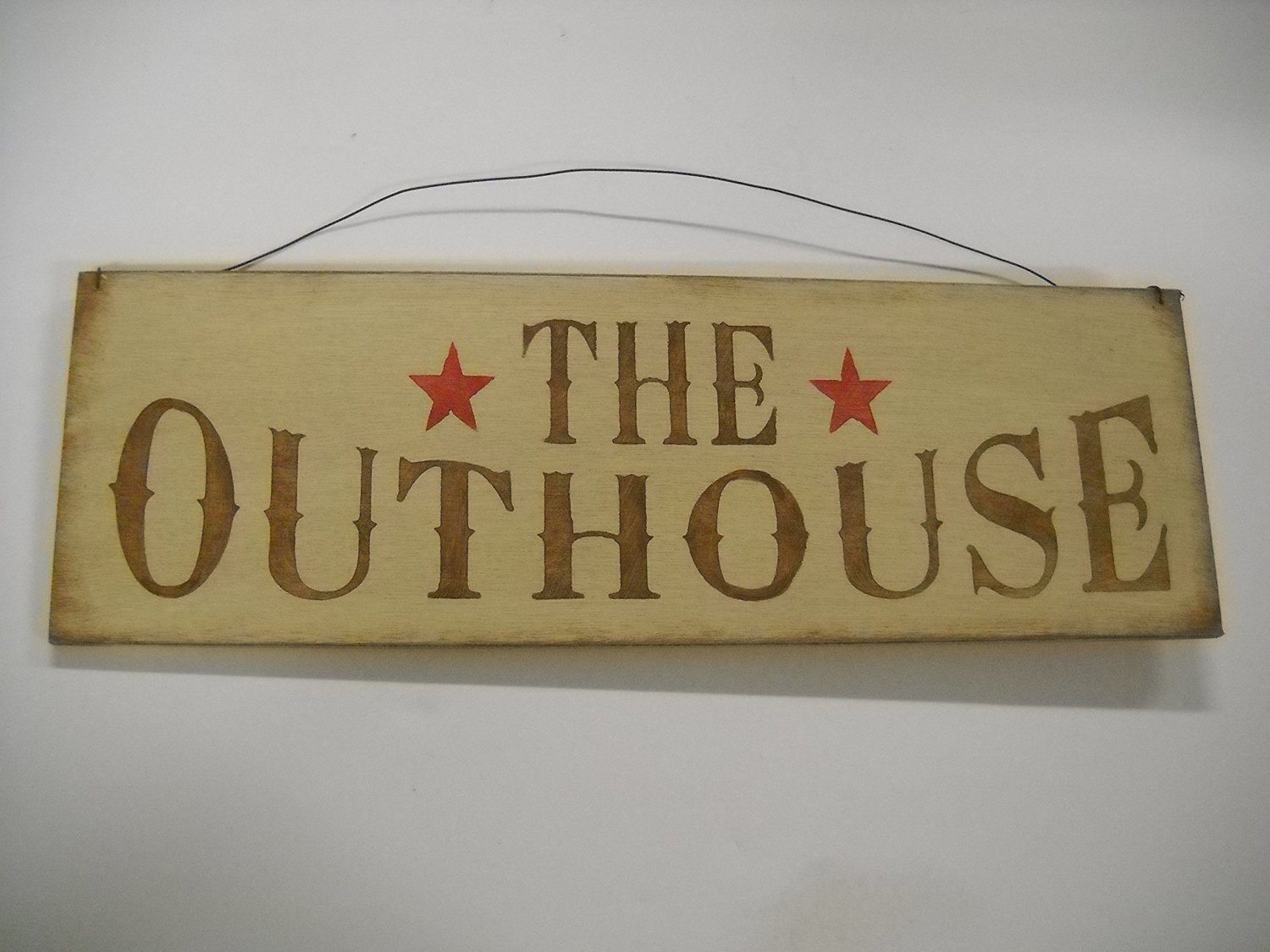Buy The Outhouse Country Bathroom Hand Stenciled Wooden Wall