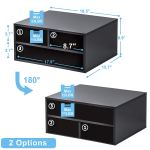 Two Tier Printer Stands With Storage Office Desk Paper Organizer Wood Fax Stands For Workspace Buy Desk Organizer Office Desk Organizer Desk Organizer Wood Product On Alibaba Com