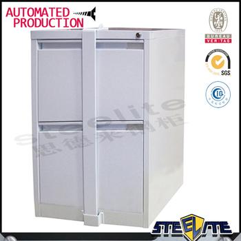 taille standard h731xw452xd620mm bureau a 2 tiroirs en metal classeur avec barre de verrouillage