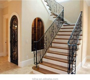 Decorative Indoor Handrails Metal Railing Metal Balustrade View   Metal Railing With Wood Handrail   Horizontal Metal   Stair Railings   Flat Bar   Stair Parts   Wrought Iron Balusters