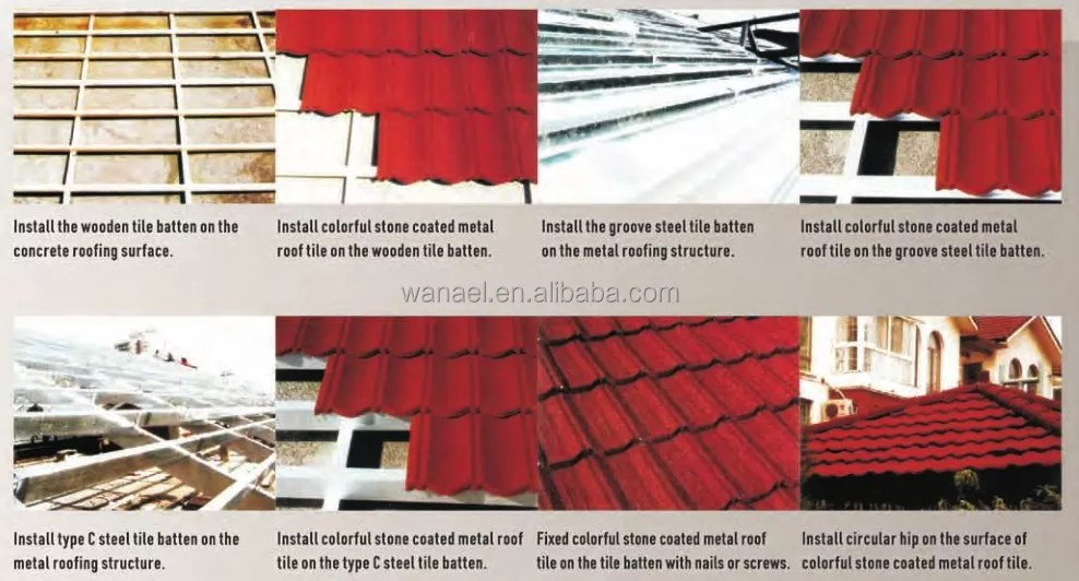 economic high quality wanael stone coated metal roofing tile roof building material price buy roof building material price stone coated metal